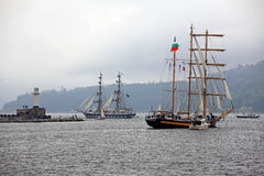 Port Varna during the Historical seas Tall Ships  Royalty Free Stock Photos