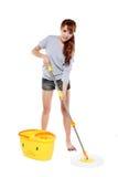 Mopping девушки Стоковые Изображения RF