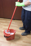 Mopping Royalty Free Stock Photo