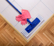 Mopping equipment on the floor Stock Photography