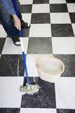 Mopping floor Royalty Free Stock Photography