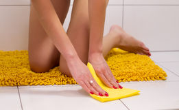 Mopping the floor Stock Photography