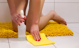 Mopping the floor Royalty Free Stock Image