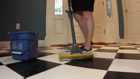 Mopping Floor stock video
