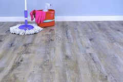 Mopping Up Royalty Free Stock Images