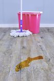 Mopping Up Stock Photo