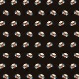 Mops - emoji wzór 03 ilustracja wektor