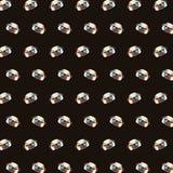 Mops - emoji wzór 33 royalty ilustracja