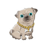 Mops. Illustration of a cute dog Royalty Free Stock Photos