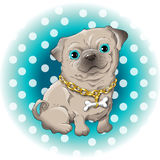 Mops. Illustration of a cute dog pug Royalty Free Stock Photo