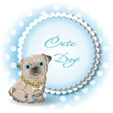 Mops. Illustration of a cute dog pug vector Royalty Free Stock Image