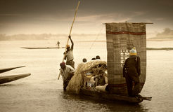 Mopti, Mali, Africa - the port of the city where it joins the Ba Stock Images