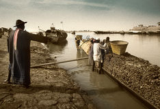Mopti, Mali, Africa - the port of the city where it joins the Ba Royalty Free Stock Images