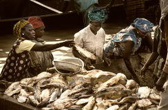 Mopti, Mali, Africa - the port of the city where it joins the Ba Stock Photos
