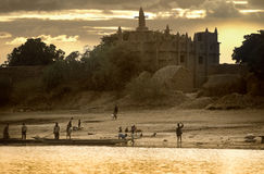 Mopti, Mali, Africa - the port of the city where it joins the Ba Royalty Free Stock Photos