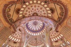Moqsue azul interior Fotografía de archivo