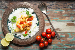 Moqueca, Brazilian Fish Stew. Home made Brazilian fish stew known as moqueca and originating from the Bahia region in northern Brazil Stock Photography