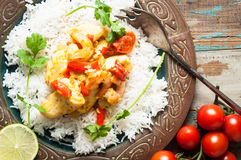 Moqueca, Brazilian Fish Stew. Home made Brazilian fish stew known as moqueca and originating from the Bahia region in northern Brazil Royalty Free Stock Photo