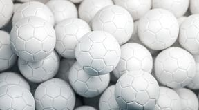 Moquerie blanche vide de pile de ballon de football, vue supérieure Image libre de droits