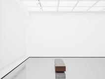 Moquerie d'intérieur avec la toile blanche 3d rendent photo libre de droits