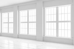 Moquerie d'intérieur de pièce blanche  Images libres de droits