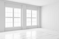 Moquerie d'intérieur de pièce blanche  Photos libres de droits