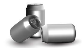 Moquerie de bière et de boîte de soude d'isolement sur le fond blanc illustration 3D illustration stock