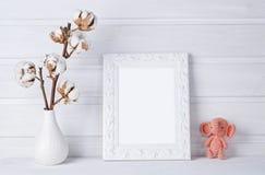 Moquerie de blanc vers le haut de cadre images stock