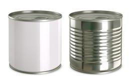 Moquerie de boîte en fer blanc  ensemble d'icône du vecteur 3d illustration libre de droits