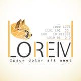 Moquerie de calibre de conception de logo de vecteur  centre de traitement des données ou icône abstraite de concept de société i Images stock