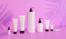 Moquerie de cosmétique sous la lumière du soleil Photographie stock libre de droits