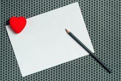 Moquerie de lettre d'amour, carte vierge de jour du ` s de valentine Image libre de droits