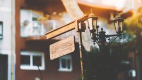 Moquerie de panneau d'affichage en bois Image stock