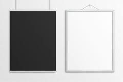 Moquerie noire et blanche d'affiche de lettre des USA de l'illustration 3D  Image libre de droits