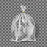Moquerie réaliste de conditionnement en plastique transparent pour la nourriture, cadeaux illustration stock