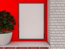 Moquerie vers le haut d'affiche à l'intérieur du salon 3d Image stock