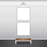 Moquerie vers le haut d'affiche avec des lampes de plafond Image stock