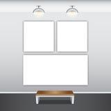 Moquerie vers le haut d'affiche avec des lampes de plafond Image libre de droits