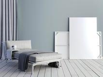 Moquerie vers le haut d'affiche avec le grenier en pastel de minimalisme de hippie de vintage inter illustration stock
