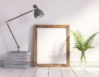 Moquerie vers le haut de cadre, fond scandinave décoré Photographie stock libre de droits