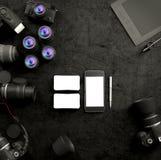 Moquerie vers le haut de calibre d'affaires Photographie stock libre de droits