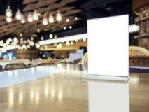 Moquerie vers le haut de partie d'événement de café de restaurant de barre de dessus de Tableau de menu image libre de droits