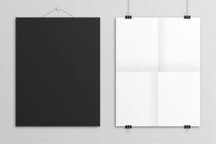 Moquerie vide d'affiche de lettre des USA de l'illustration 3D  Photos stock