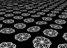 Moquette del fiore bianco Immagine Stock