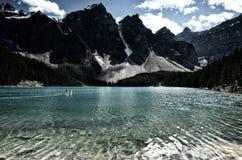 Morän sjö på vattnet Royaltyfria Foton