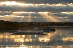 Morän sjö på vattnet Fotografering för Bildbyråer