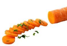 Morötter och parsley Fotografering för Bildbyråer