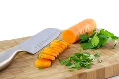 Morötter och parsley Arkivfoto