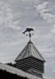 Morświnu Weathervane przy półmrokiem Zdjęcie Royalty Free
