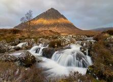 MOR de Buachaille Etive en Escocia Fotos de archivo